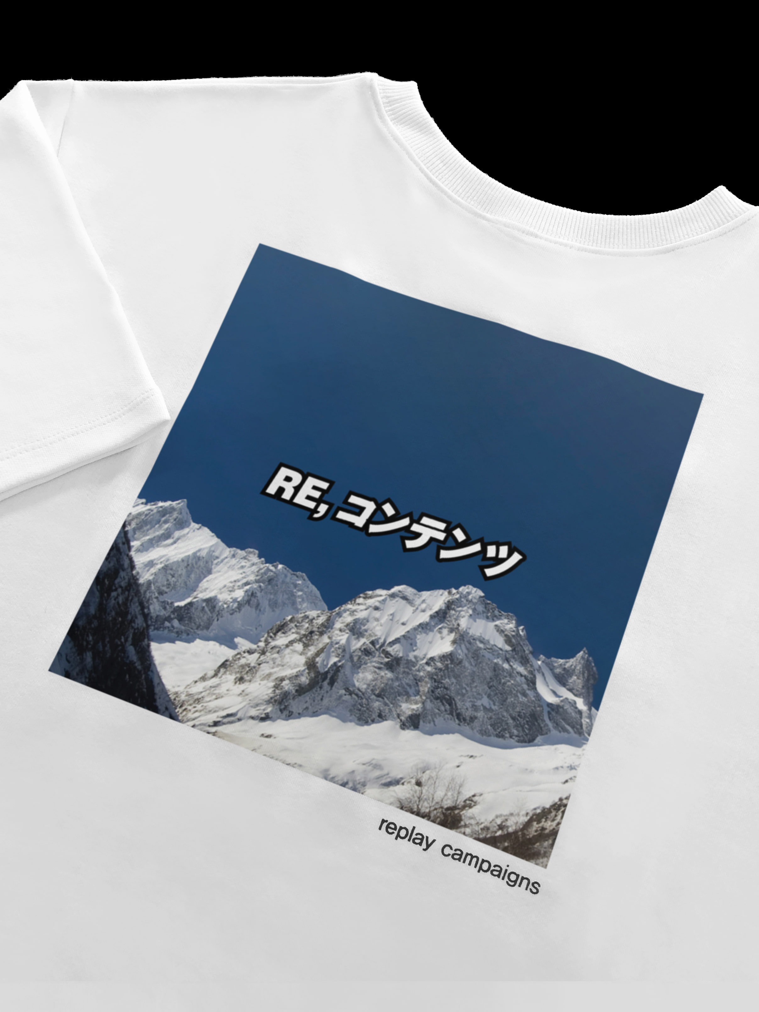 new replay campaign 1/2 tee (dark blue)