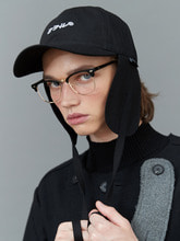 RC earflap cap (black)