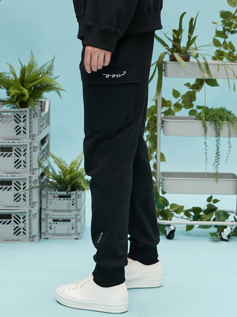 RC pocket jogger pants (black)
