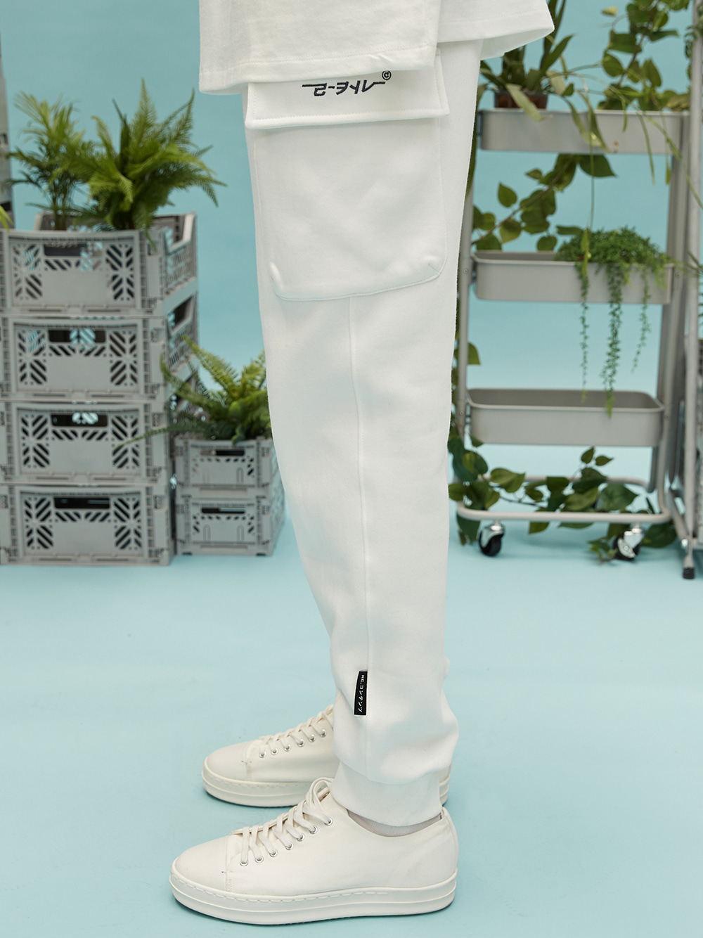 RC pocket jogger pants (white)
