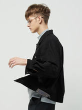 rc black twill jacket